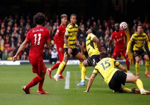 """ليفربول يدك مرمى واتفورد بخماسية و""""صلاح"""" يسجل أحد أجمل أهداف الموسم"""