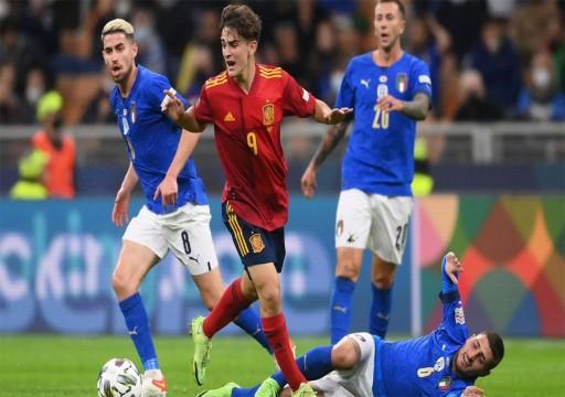 إسبانيا تثأر من إيطاليا وتبلغ نهائي دوري الأمم الأوروبية